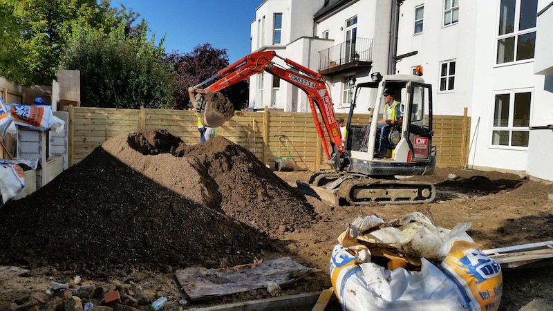 New build, Hard and Soft Landscaping, Top soil supply, North West London
